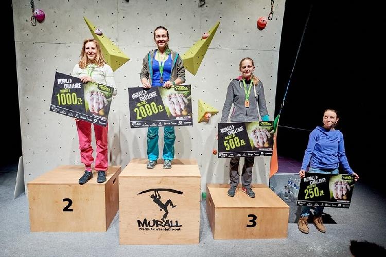 Евгения Казбекова - победительница соревнований  Murall Challenge 2017, Дарья Брилева - четвертая