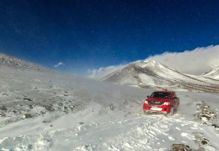 Свежий снежок в пустыне.