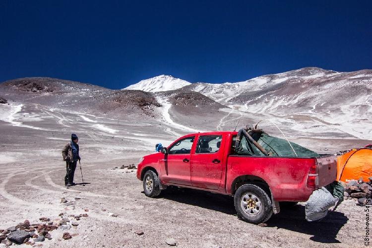 Приют Атакама, 5200 м.