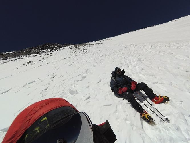 Высота 6650 м. Отсюда мы пошли вниз