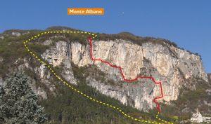 Феррата дель Монте Альбано - одна из первых спортивных феррат в Альпах.