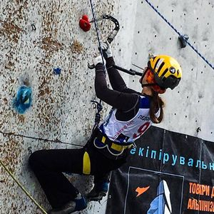 В Харькове состоялся первый в истории Чемпионат Украины по ледолазанию