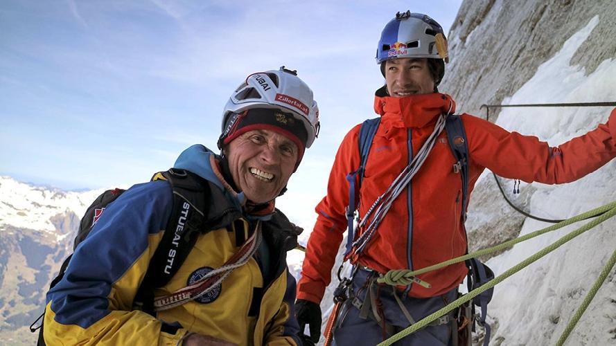 Питер Хабелер (Peter Habeler) и Давид Лама (David Lama) на Эйгере