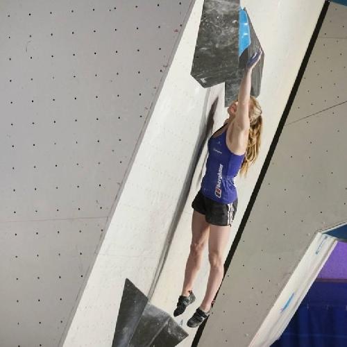 Шона Кокси (Shauna Coxsey) в финале первого этапа Кубка Мира по скалолазанию