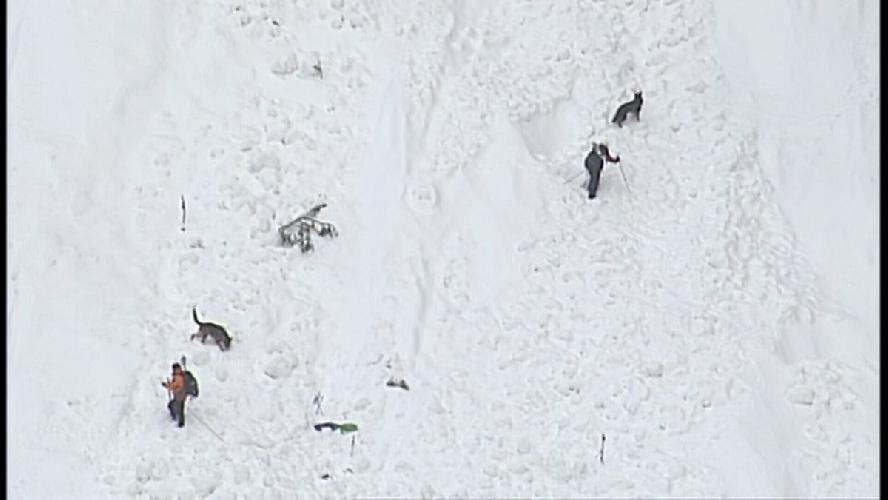 Посиково-спасательные работы на склоне горы Харви