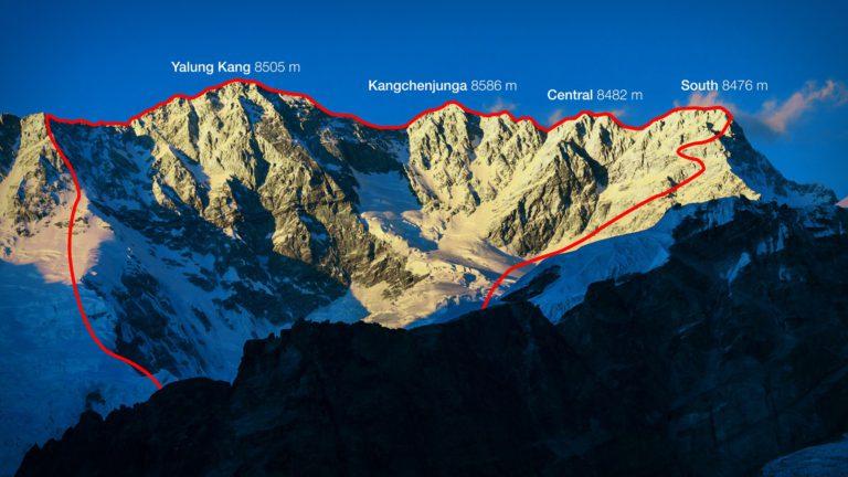 Канченджанга. маршрут траверса вершин