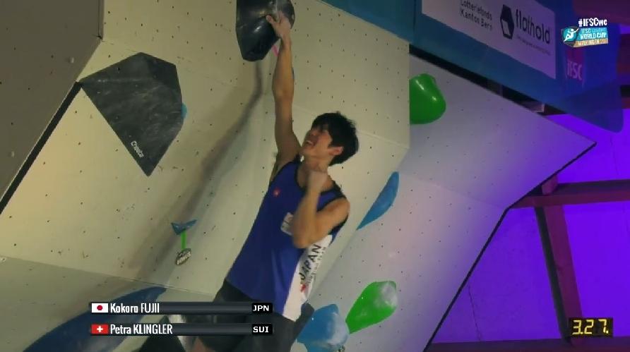 Кокоро Фуджи (Kokoro Fujii) в финале первого этапа Кубка Мира по скалолазанию