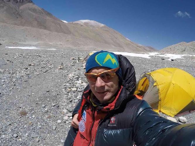 Валентин Сипавин в базовом лагере Эвереста