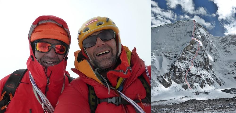 Пол Рамсден (Paul Ramsden) и Ник Баллок (Nick Bullock): открытие нового маршрута по северному контрфорсу горы Ньянквентангла Юго-Восточная (Nyainqentangla, 7046 метров) в Тибете