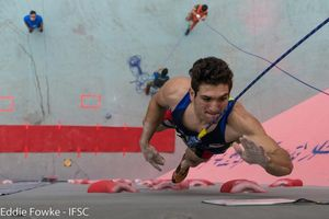 Новый рекорд мира в скалолазании на скорость установил иранский спортсмен Реза Алипуршена на этапе Кубка Мира в Китае
