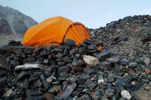 День 16. 22 апреля. маршрут от Base Camp до Middle Camp (5800м).