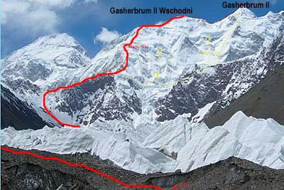 Швейцарский маршрут на вершину Гашербрум II Восточный