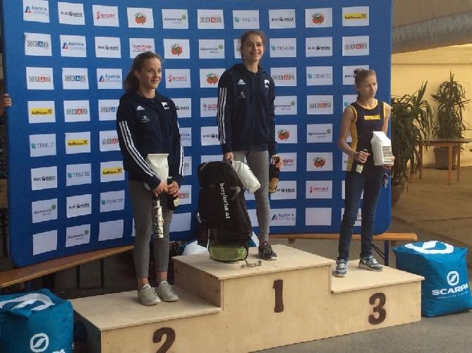 Потапова Ника - бронзовая призерка этапа молодежного Кубка Европы по скалолазанию 2017