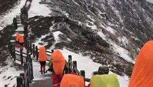 В Китае спасены 37 туристов, попавших в мощную снежную бурю