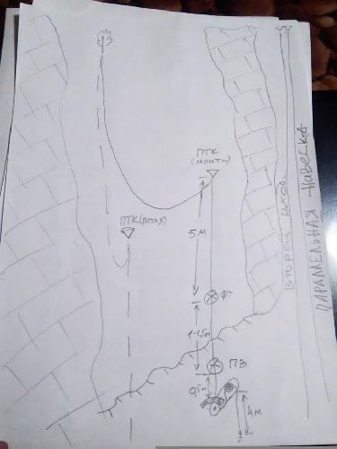 Схема навески при трагедии в пещере Монастырь-Чокрак