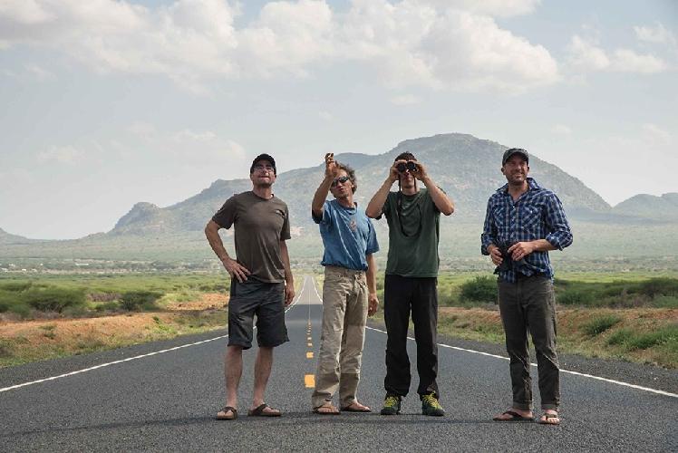 Алекс Хоннольд (Alex Honnold), Цедар Райт (Cedar Wright) и Мори Бридвел (Maury Birdwell) в Кении.