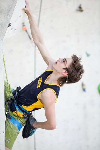 Украинские спортсмены на этапе молодежного Кубка Европы-2017 по скалолазанию в Имсте