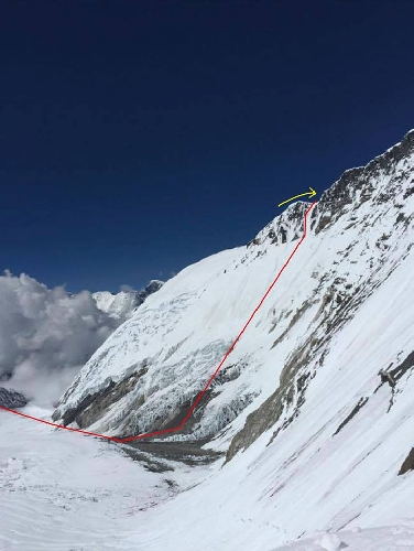 Планируемый маршрут Нобуказу Курики на Эверест, май 2017 года