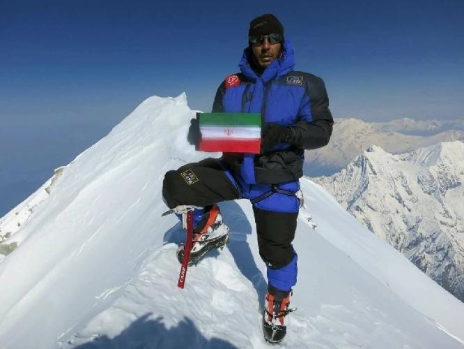 Азим Гайчисаз (Azim Gheichisaz) на восьмитысячнике Лхоцзе