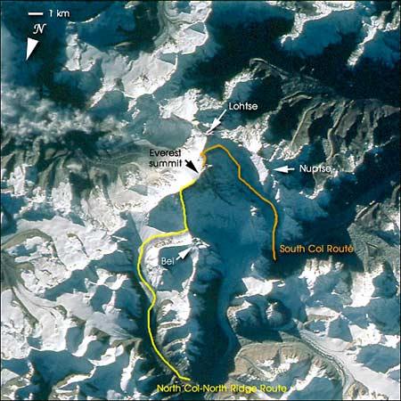 Маршрут прохождения траверса Эвереста