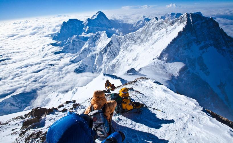 """Эверест. отметка """"Балконы"""", 8400 метров"""