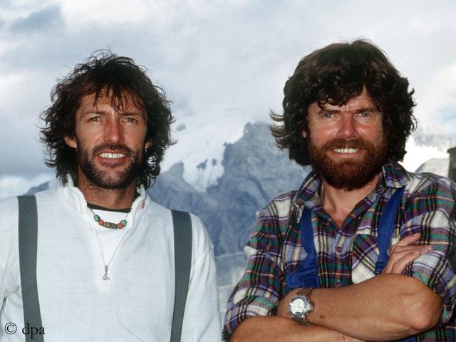 Ханс Каммерландер и Райнхольд Месснер в 1991 году