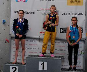 14-летняя украинка Ника Потапова досрочно выиграла молодежный Чемпионат Европы по скалолазанию!