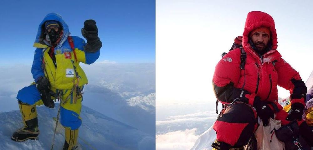 Валентин Сипавин (Харьков) и Грушко Игорь (Донецк / Киев) на вершине Эвереста. 2017 год