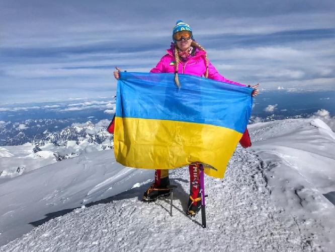 Ирина Галай на вершине Денали