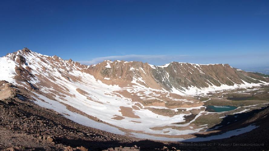 Верховья ущелья Горельник и пик Титова