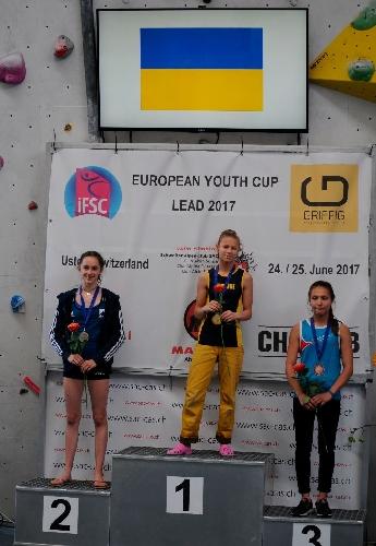 Ника Потапова - победительница этапа молодежного молодежного Кубка Европы по скалолазанию в Устере и досрочная победительница соревнований 2017 года!