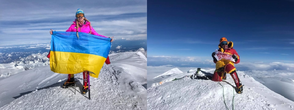 Ирина Галай и Татьяна Яловчак на Денали. 2017 год