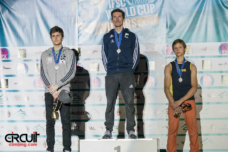 Самойлов Фёдор стал бронзовым призером этапа Кубка Мира по скалолазанию в швейцарском городе Вилларе