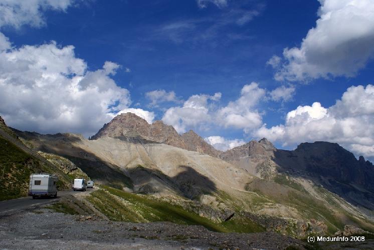 Дорога от Col du Lautaret к Col du Galibier