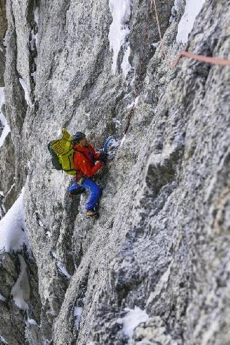 """Восхождение по маршруту """"Vse ali nič"""" на Западной стене гималайской горы Арджуна (Mount Arjuna)"""