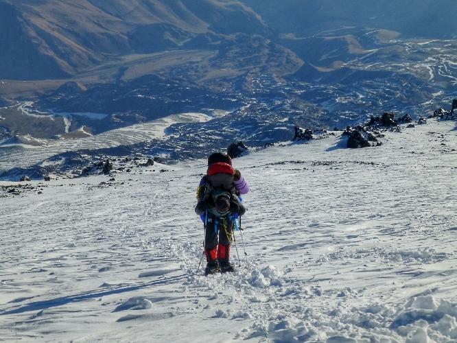 Эльбрус. отметка примерно 5200-5400 м