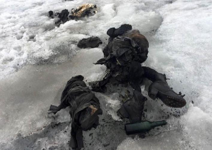 на леднике Гласье де Тзанфлёрон (Tsanfleuron) были обнаружены мумифицированные тела мужчины и женщины