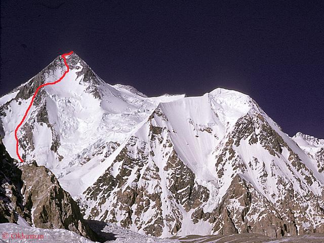 Гашербрум I (Gasherbrum I, 8080 м)  - новый чешский маршрут по Юго-Западной стене