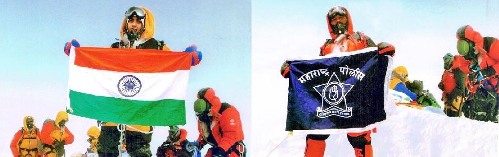 Динеш (Dinesh Rathod) и Таракешвари Ратход (Tarakeshwari Rathod) якобы на вершине Эвереста, май 2016 года
