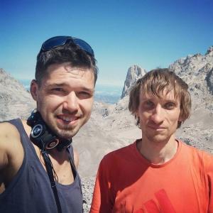 Украинские скалолазы прошли 550-метровый мультипитчевый маршрут на Испанской горе Наранхо де Бульнес