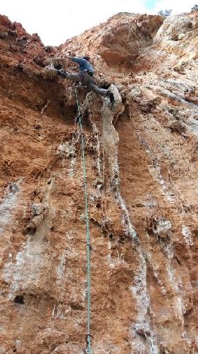 Известняковые скалы вокруг Леонило в Пелопоннесе на материковой части Греции. Сектор Марс