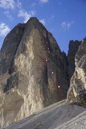 "Маршрут ""Schatten der Großenl"" на Чима Овест ди Лаваредо (Cima Ovest Di Lavaredo высотой 2973 м)"