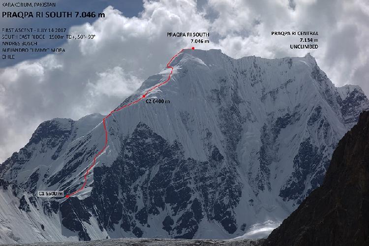Чилийский маршрут на вершину Пракпа Ри Южная ( Praqpa Ri South, 7046м)