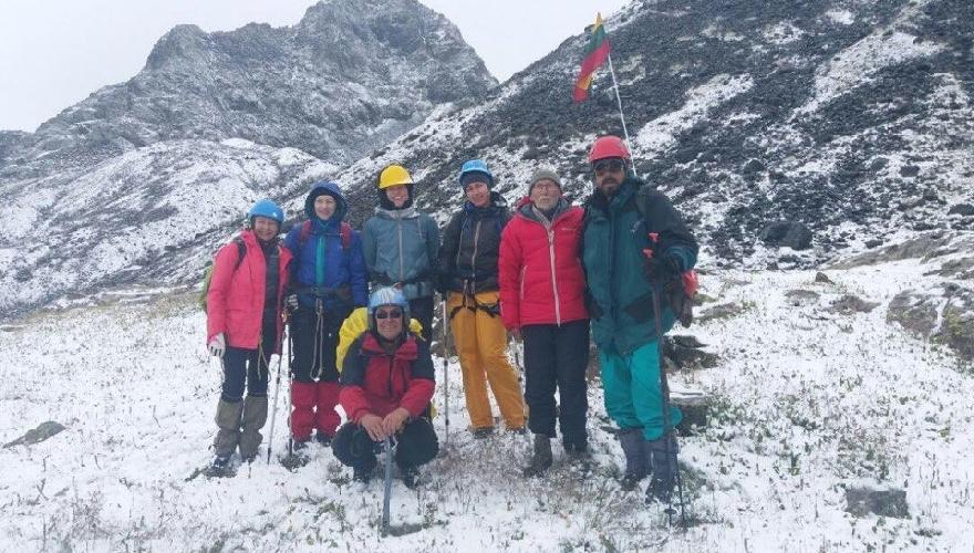 Литовские альпинисты в горах Тянь-Шаня