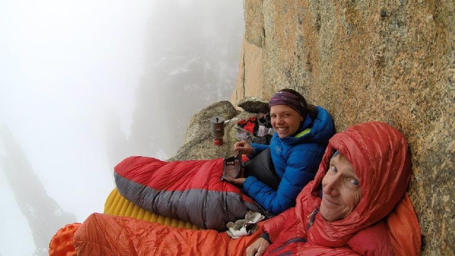 """Арно Пети (Arnaud Petit) и Нина Капрез (Nina Caprez) на маршруте """"L"""