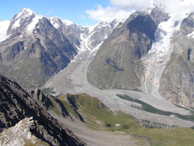 ледник Миаж (Miage Glacier)