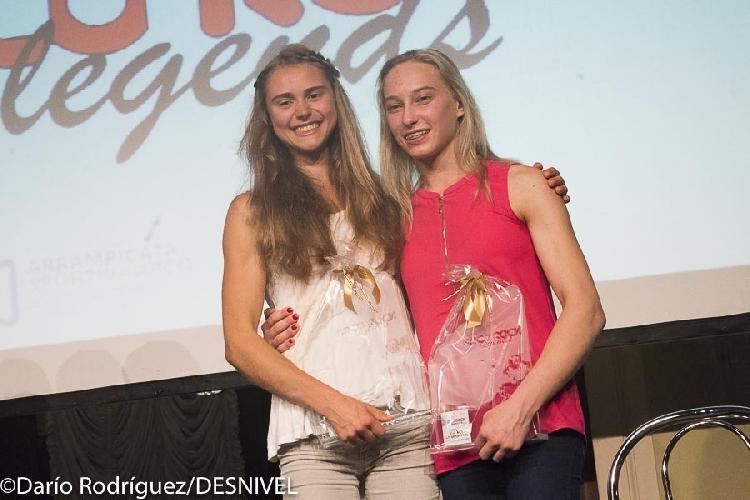 Марго Хейс (Margo Hayes) и Янья Гарнбрет (Janja Garnbret) - победители Arco Rock Legends 2017