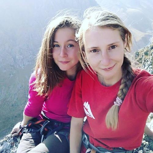 Женская команда Украины: Александра Тихонова и Надежда Гончаренко