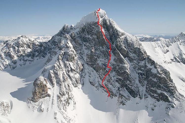 Маршрут GAME OF THRONES по Юго-Западному контрфорсу канадской горы Монарх (Monarch, 3572 м)