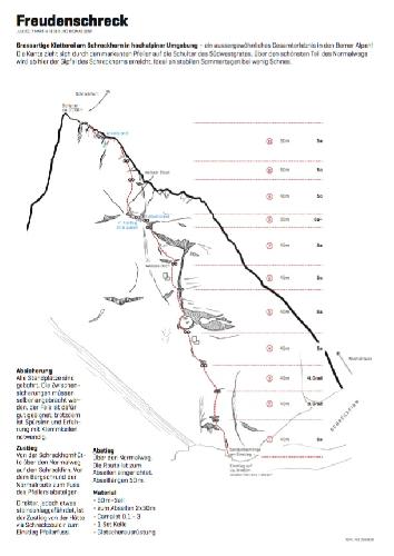 "Профиль маршрута ""Freudenschrek"", 6а+, 485 м"